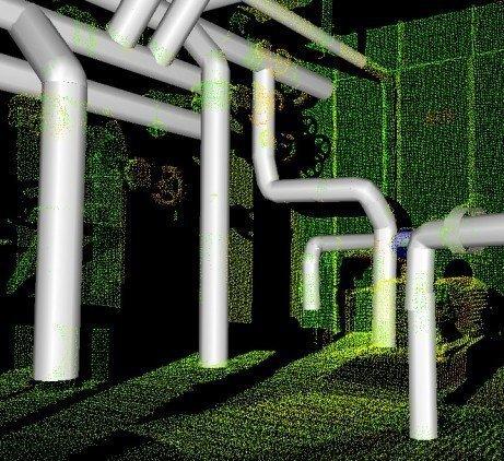 Digitalización de tuberias a partir de la nube de puntos