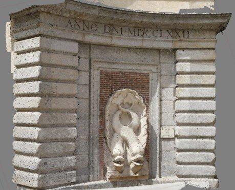 Modelo 3D de la fachada del Colegio Oficial de Arquitectos de Madrid