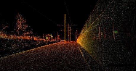 Nube de puntos realizada con Laser escaner
